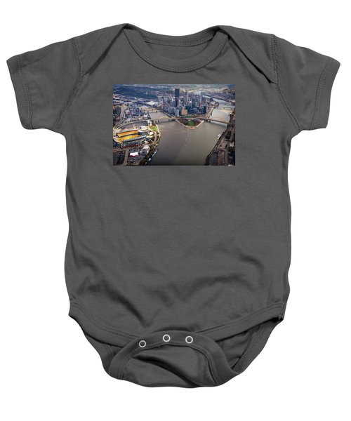 Above Pittsburgh In  Color  Baby Onesie