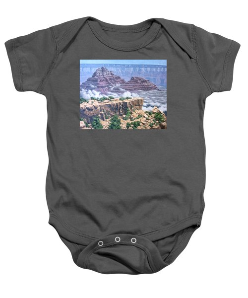 Above The Clouds Grand Canyon Baby Onesie by Jim Thomas