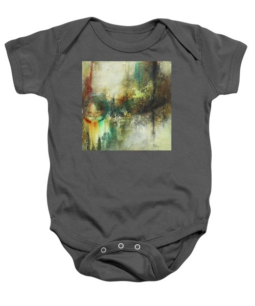 Abstract Art With Blue Green And Warm Tones Baby Onesie