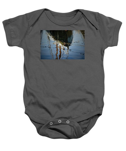 Abstract Boat Reflection IIi Baby Onesie