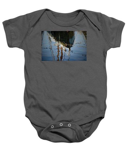 Abstract Boat Reflection IIi Baby Onesie
