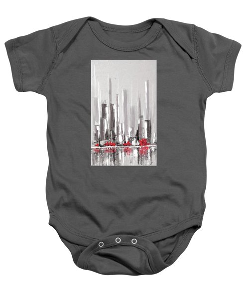 Abstract Cityscape Painting - 1 Baby Onesie