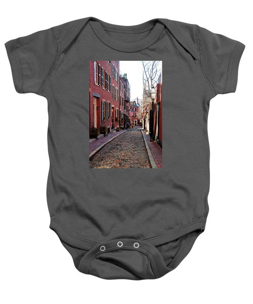 Acorn Street Beacon Hill Baby Onesie