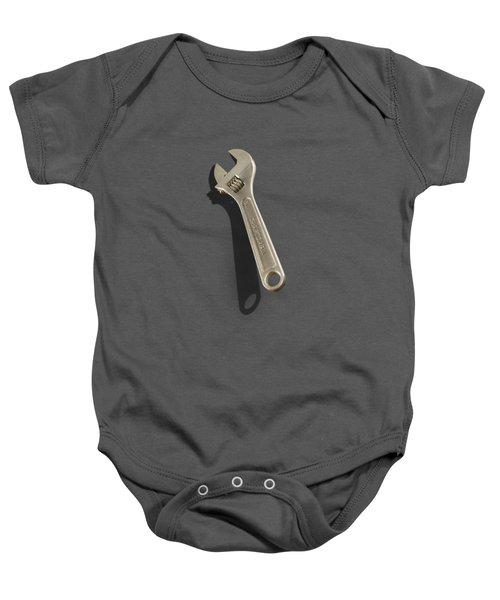Adjustable Wrench Over Wood 72 Baby Onesie
