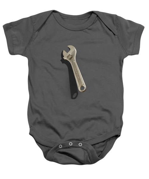 Adjustable Wrench Over Wood 72 Baby Onesie