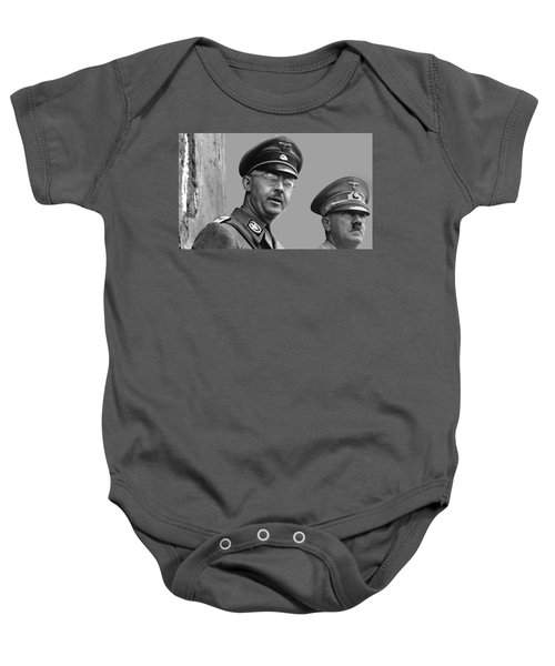 Adolf Hitler And Gestapo Head Heinrich Himmler Watching Parade Of Nazi Stormtroopers 1940-2015 Baby Onesie