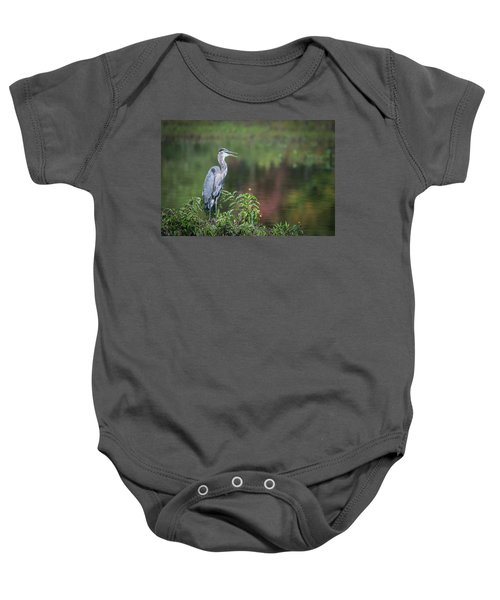 Advice From A Great Blue Heron Baby Onesie