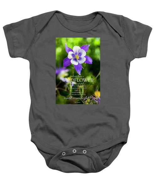 Advice From A Wildflower Columbine Baby Onesie