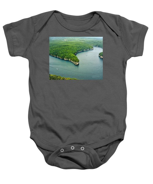 Aerial Image Of  Long Point Cliff Baby Onesie