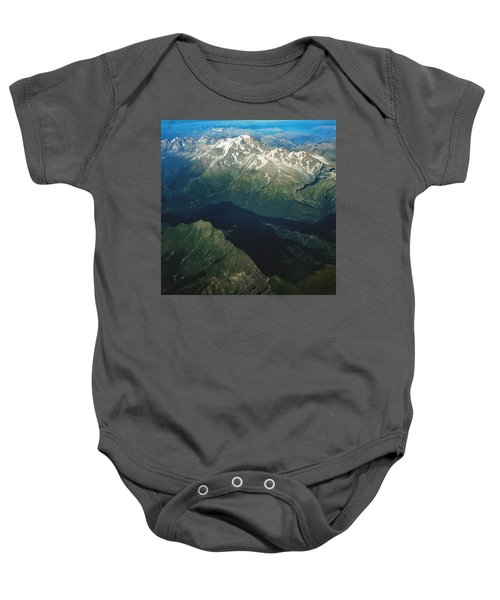 Aerial Photograph Of The Swiss Alps Baby Onesie