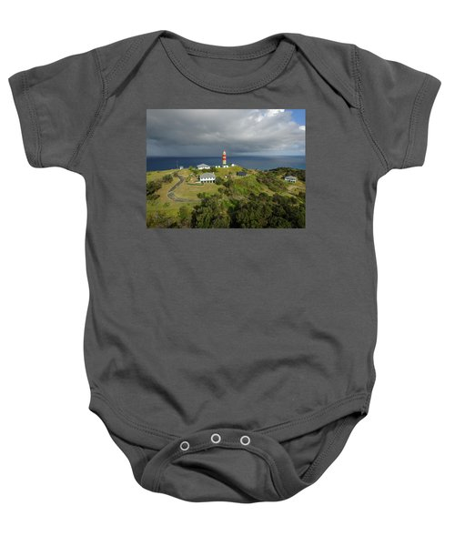 Aerial View Of Cape Moreton Lighthouse Precinct Baby Onesie