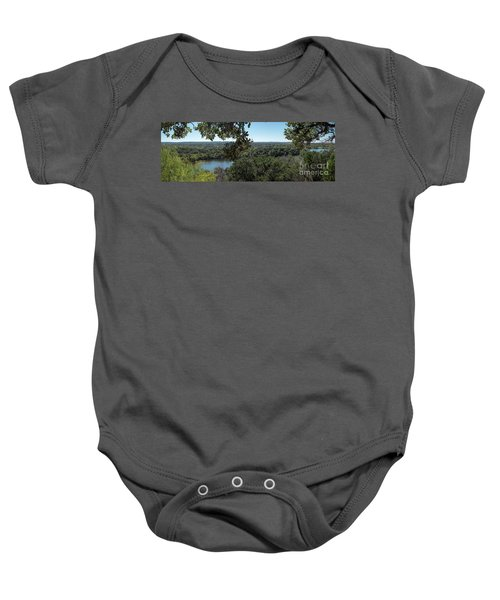 Aerial View Of Large Forest And Lake Baby Onesie