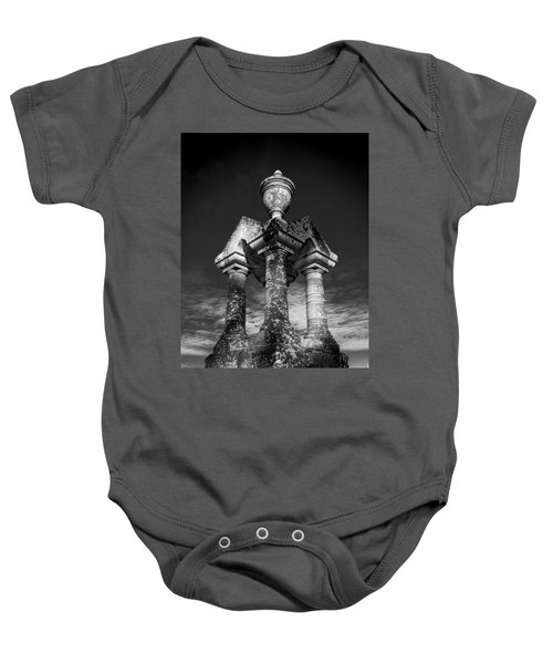 Aged Stone And Sky Baby Onesie
