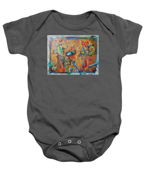 Digital Landscape, Airbrush 1 Baby Onesie