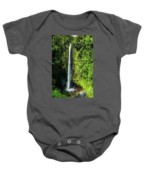 Akaka Falls With Rainbow Baby Onesie
