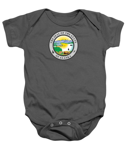 Alaska State Seal Baby Onesie by Movie Poster Prints