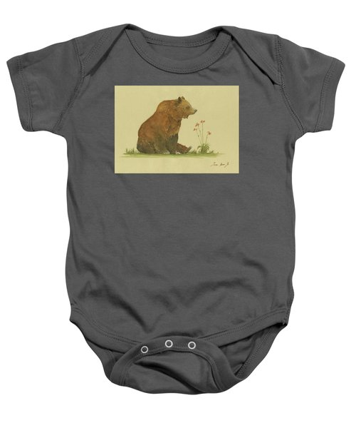 Alaskan Grizzly Bear Baby Onesie