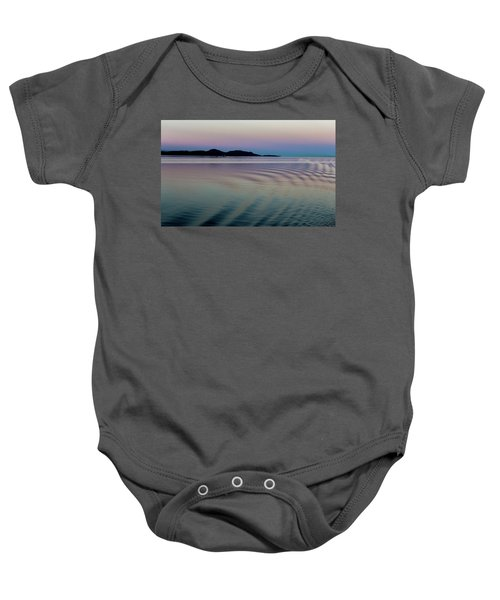 Alaskan Sunset At Sea Baby Onesie