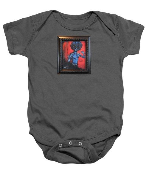 alien Bruce Lee Baby Onesie