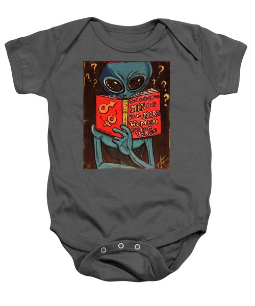 Alien Looking For Answers About Love Baby Onesie