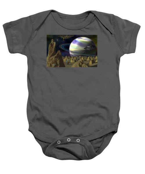 Alien Repose Baby Onesie