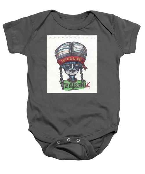 alien Willie Nelson Baby Onesie