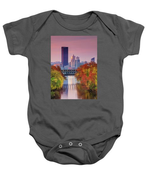All Pittsburgh Pink  Baby Onesie