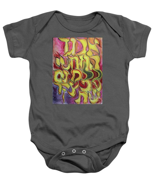 All The Letters  Ab1 Baby Onesie
