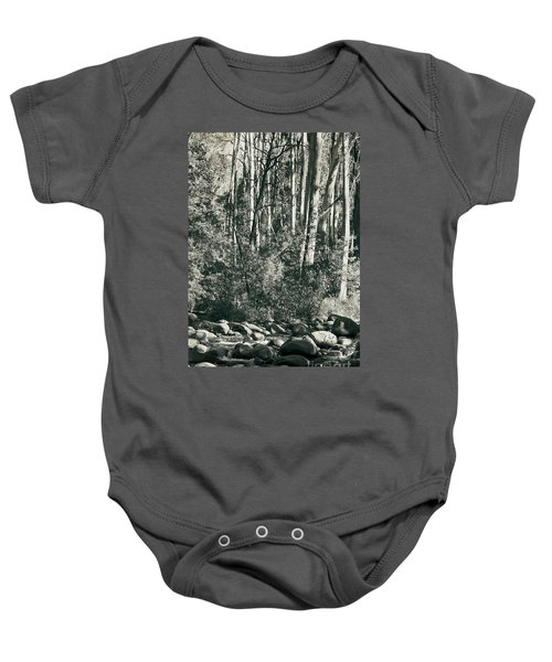 Baby Onesie featuring the photograph All Was Tranquil by Linda Lees