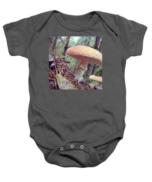 Alle Unter Einem Hut.  #mushrooms Baby Onesie