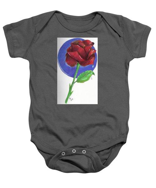Almost Black Rose Baby Onesie