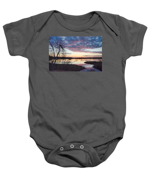 Almost Spring Sunset Baby Onesie
