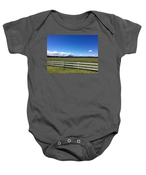 Along The Fence Line Baby Onesie