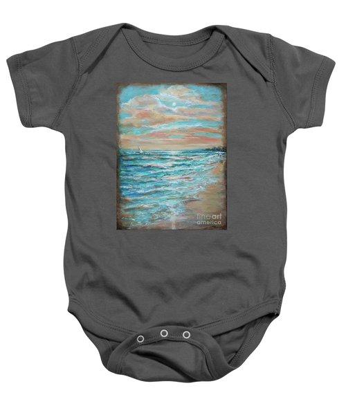 Along The Shore Baby Onesie