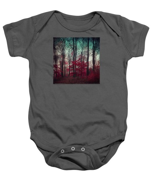 A.maze - Enchanted Red Forest Baby Onesie