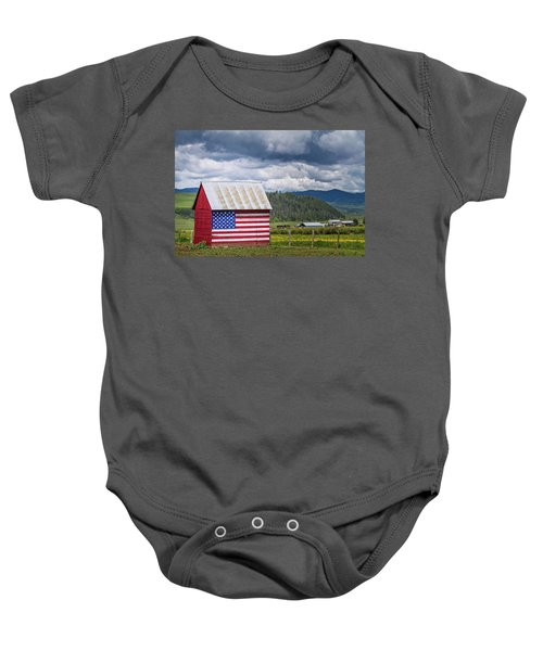 American Landscape Baby Onesie