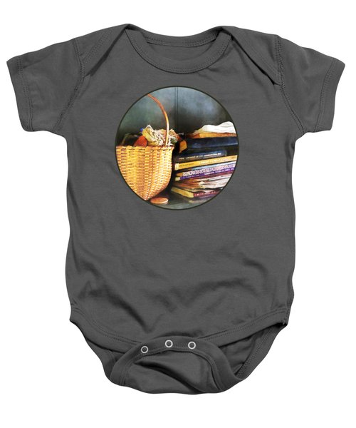 Americana - Books Basket And Quills Baby Onesie