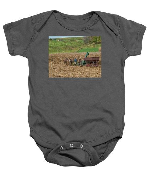 Amish Harvest In Ohio  Baby Onesie