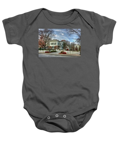 Amos Tuck House In Late Autumn Baby Onesie