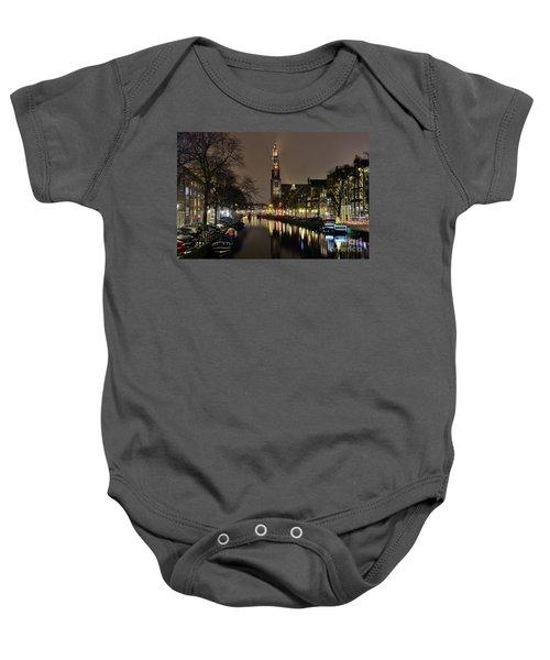 Amsterdam By Night - Prinsengracht Baby Onesie