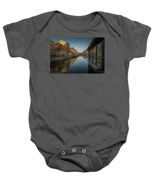Amsterdam Canal Baby Onesie
