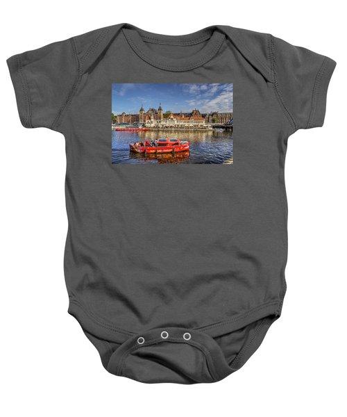 Amsterdam Waterfront Baby Onesie
