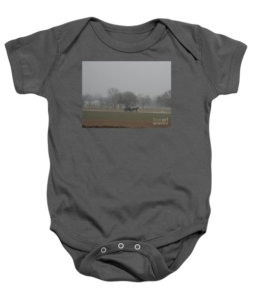 An Evening Buggy Ride Baby Onesie