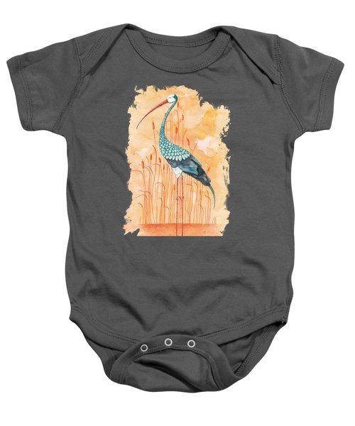 An Exotic Stork Baby Onesie