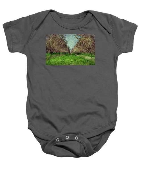 An Orchard In Blossom In The Eila Valley Baby Onesie