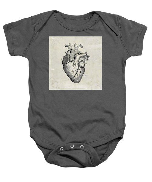 Baby Onesie featuring the digital art Anatomical Heart Medical Art by Renee Hong