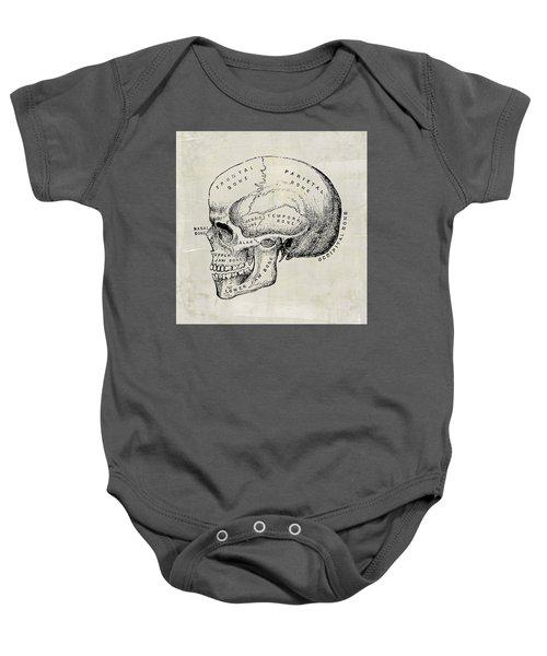 Baby Onesie featuring the digital art Anatomical Skull Medical Art by Renee Hong