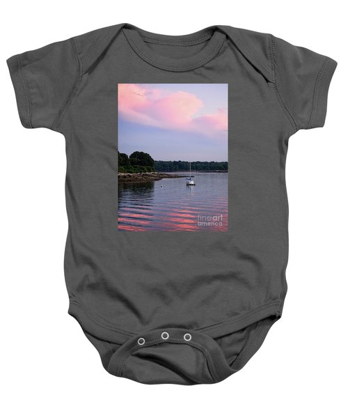 Anchored At Peaks Island, Maine  -07828 Baby Onesie