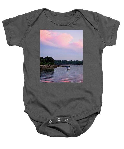 Anchored At Peaks Island, Maine  -07828 Baby Onesie