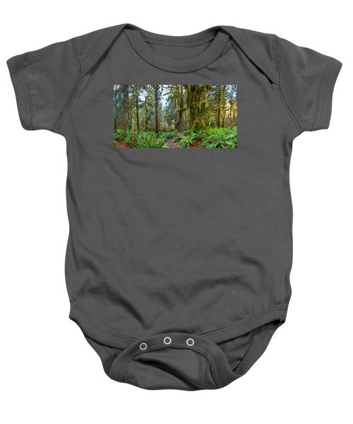 Ancient Forest Panorama Baby Onesie